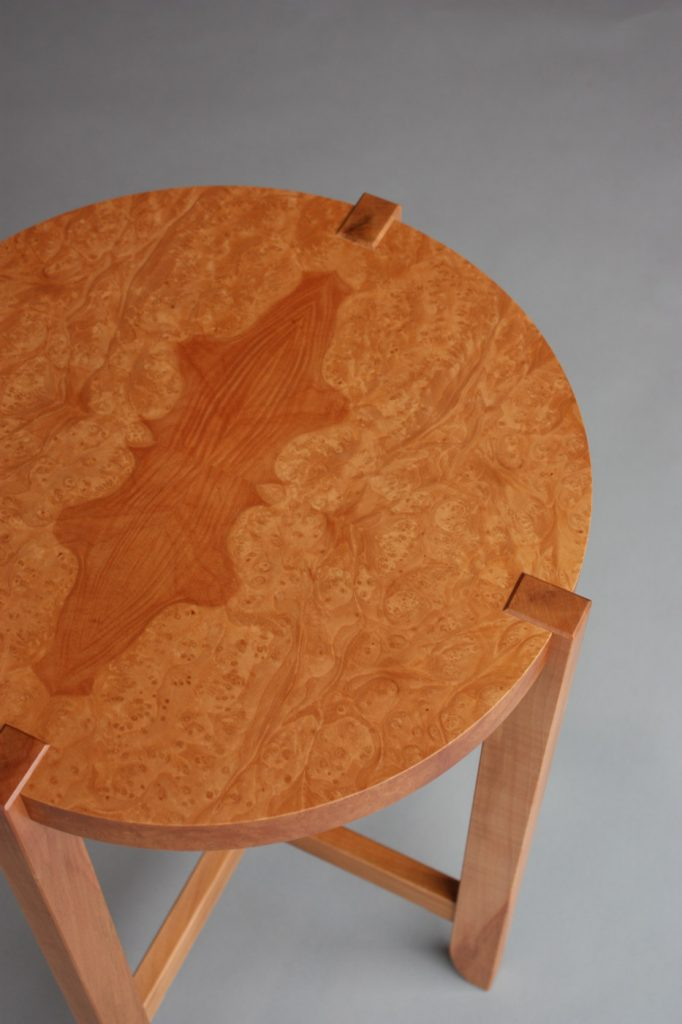 Round side table top view