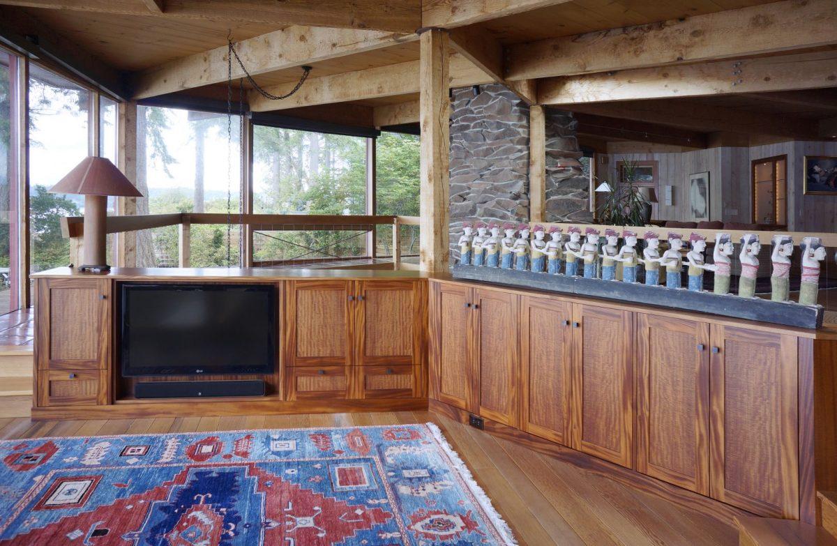 beautiful Khaya wood entertainment/storage cabinets by Hugh Montgomery