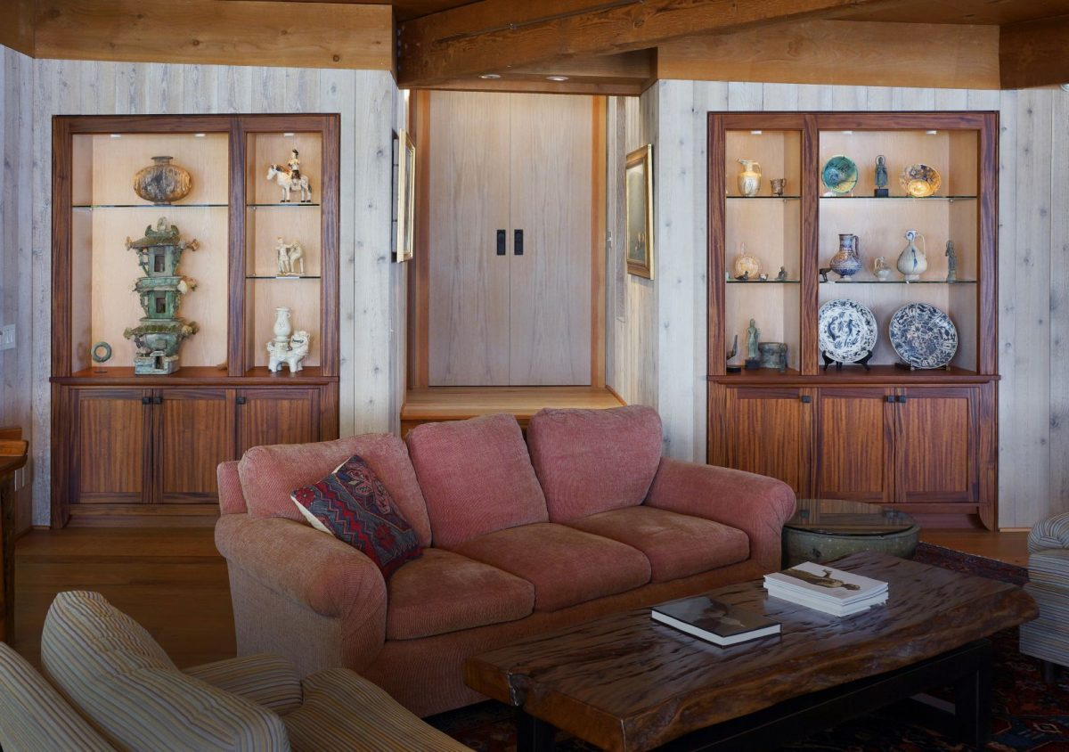 museum quality art display custom cabinetry by Hugh Montgomery