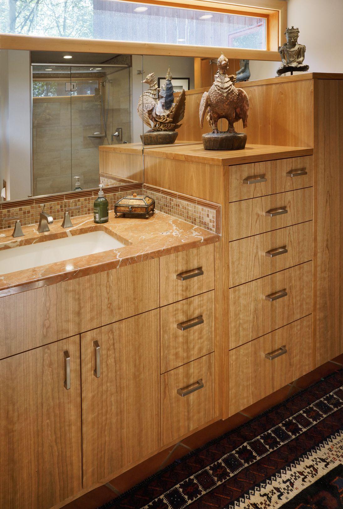 Custom Cherry wood vanity